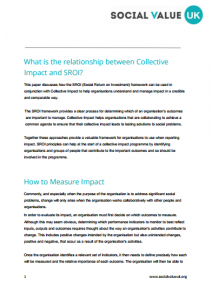 sroi and collective impact