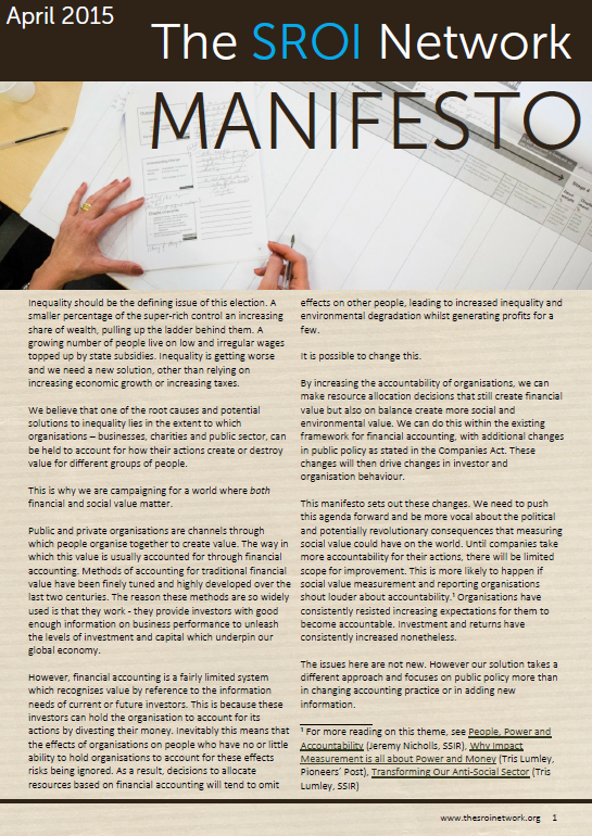 Manifesto front cover