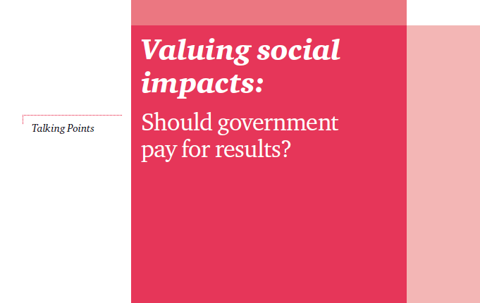 Valuing Social Impacts
